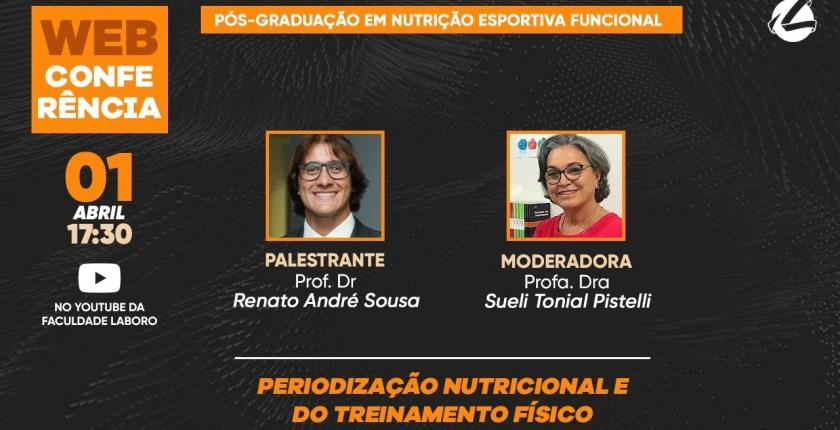 Capa do YouTube chamada Periodização Nutricional